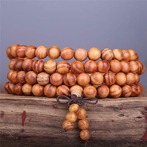 - Oseni Wholesale 5 Pcs Natural Blood Dragon Wood Beads Bracelet Fashion Men's Multi Circle Hand Chain DIY 108 Mala Jewelry