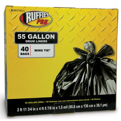 Ruffles Pro 55 Gallon Drum Liners (40 Count) 618933(RPS108A)