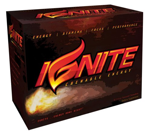 IGNITE Chewable Energy - Power-packed All-Natural Surge of Energy Within Minutes! Botanicals, Herbs, and Vitamins to Fuel Your Energy! 30 Tropical Fruit Flavored Chewable Tablets.