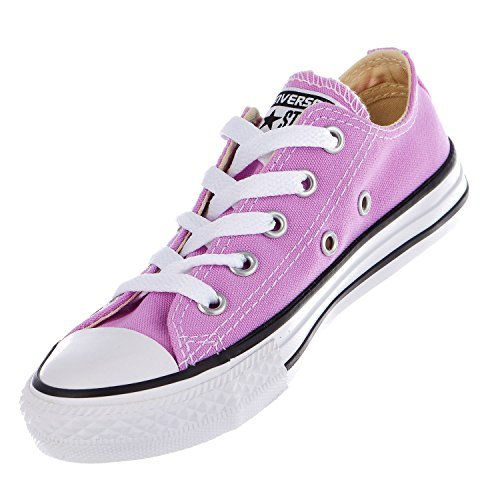 Converse Kid's Chuck Taylor All Star Seasonal Ox Fashion Sneaker Shoe - Fuchsia Glow - Boys - 1