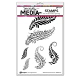 Ranger Sketched Layered Fronds Dina Wakley Media Cling Stamps, 6'' x 9''