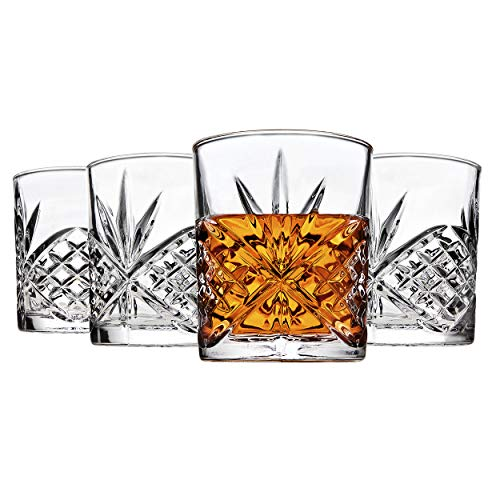 Crystal Drinking Glass - Godinger Dublin Double Old Fashioned Glasses, Set of 4