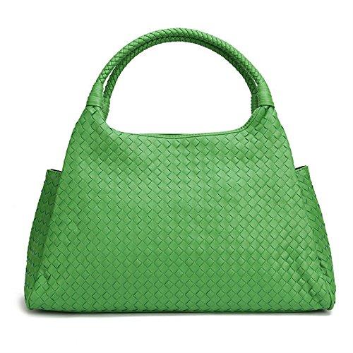 Nouveaux La À À Tissé Sacs Faux Cuir De Premium Bags Pour De Sac green À Main Main Bandoulière Tote En Otomoll Mouton L'Arrivée Sac Femme q7zwE8xC
