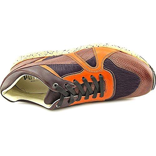 Puma Mens Trinomic Xs500 X Miitaly Brun / Orange Läder Athletic Gymnastikskor