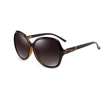 CJC Sonnenbrille Damen Übergroß Hoher Haltbarkeitsrahmen Polarisierte Linse 100% UV-Schutz ( Farbe : Rot ) 68pZ9h
