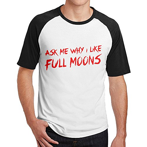 Double Happiness Raglan Aks Me Why I Like Full Moons Tees Black L For Mens Or