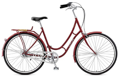 Cheap Viva Juliett 3 City Bike, 28 inch Wheels, Women's Bike, Red, 47 cm Frame
