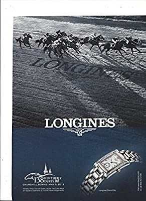 MAGAZINE AD For 2012 Longines DolceVita Two Tone Watches Kentucky Derby Scene