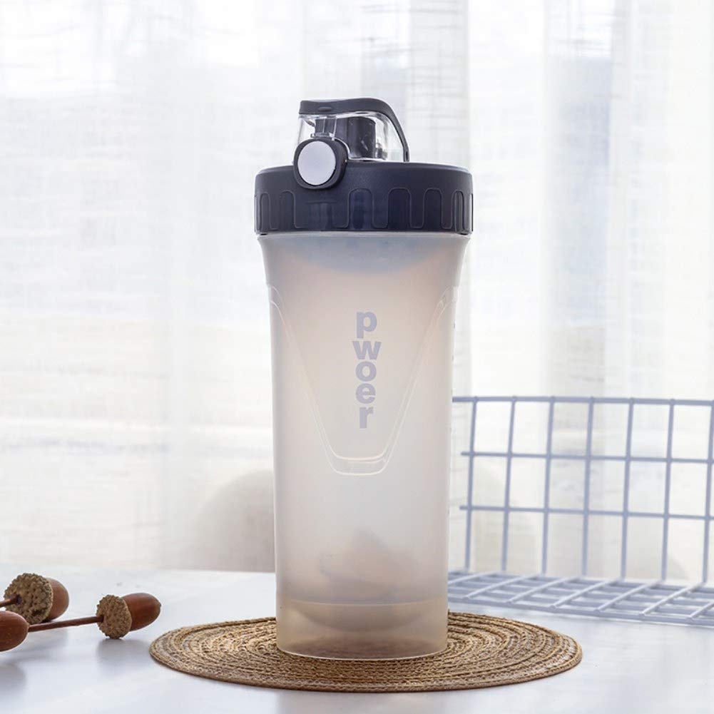 PanDaDa 650ml Large Capacity Sporting Water Bottle, BPA Free Reusable Fitness Water Bottle for Men and Women - Drink More Water Daily,White by PanDaDa (Image #2)