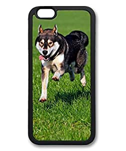 Black TPU Cellphone Back Case Cover for iPhone 6 Shell Skin for iPhone 6 with Siberian Husky