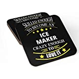 ice gola maker - Coasters Set of 4 For Ice Maker Ideal for Self/Gift For Ice Maker ,Friends Family Colleagues Coworkers Men & Women Home Bedroom Office Kitchen Room Table Desk By HOM