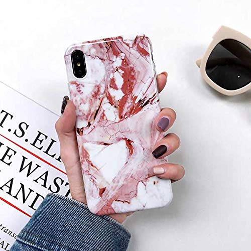 Fitted Cases - Vintage Marble Case For Iphone Xs Xr Xs Max X 8 7 6 6s Plus Soft Imd Glossy Full Body Phone Back Cover Cases Bags Gifts - -