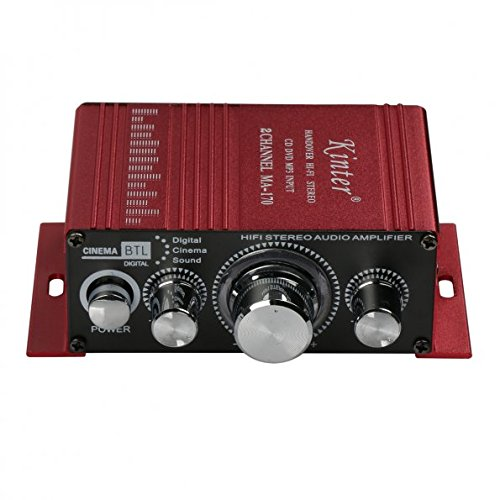 amazon com kinter ma170 12v 2 channel mini digital audio power rh amazon com DC Audio Micro Amplifiers Mini Amplifier Receiver
