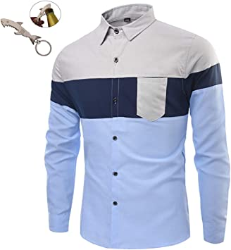 G&Armanis shop Polo Casual para Hombres, Camisa de Manga Larga ...