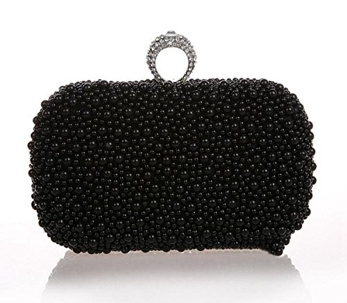 Shoulder Bag Bag Black Bag Bag Cross Underarm Bags Party Bag Clutch Body GSHGA Wrist Evening Handbag nq1vTgwv0