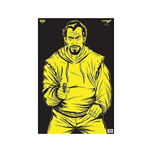 (Birchwood Casey Eze-Scorer BC Bad Guy Paper Target (Per 5), 23 x 35-Inch, Black/Yellow )
