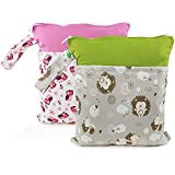 Baby Wet/Dry Bag Splice Cloth Diaper Waterproof Bags...