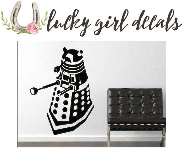 Lucky Girl Decals Vinyl Wall Decor Dr. Who Inspired Dalek 12 inches Wide by 16.5 inches high