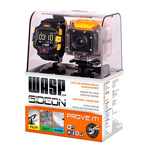 WASPcam Gideon Action Sports Camcorder with LVD Display Wrist Controller by WASPcam