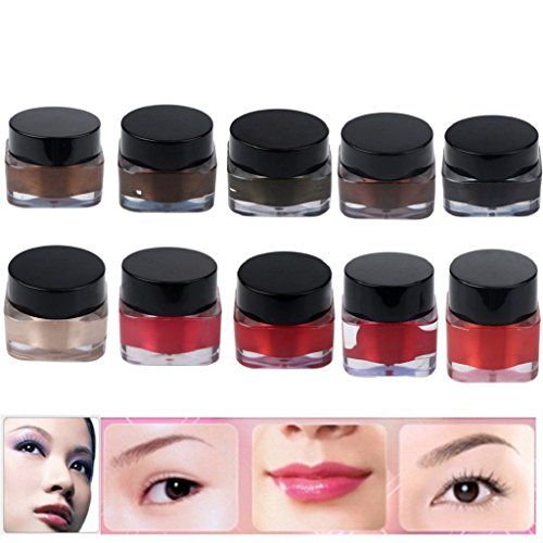 Hot sales baodeli of the new 10 color pigment ink 1 permanent makeup / 2 oz tattoo embroidery eyebrow lip makeup micro ink pigment set