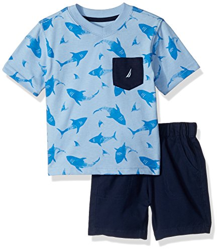 nautica-baby-boys-two-piece-set-with-v-neck-pocket-tee-and-pull-on-short-blue-bell-18m