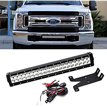 2 Black Series Included 70697 Rough Country Dual 8 LED Grille Mounting Kit 17-19 Super Duty F250 F350 Lariat fits