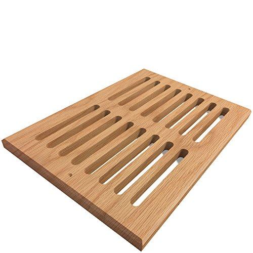 8 inch by 16 oak floor register - 1