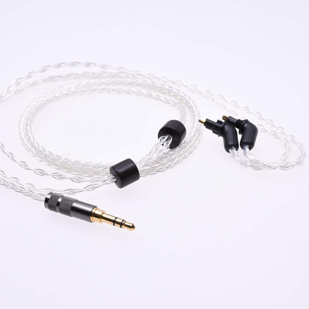 8 Cores 5n OCC Audio Headphone Upgrade Silver Plated Cable For Sony MDR-EX1000 EX800 EX600 Headphone Upgrade Cable