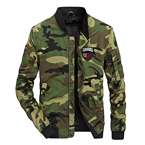 otoño de XXXL encajan invierno de de ejército una Chaqueta chaqueta del 66038 camuflaje en jóvenes e uniforme de luz hombres uniforme XnEAqE