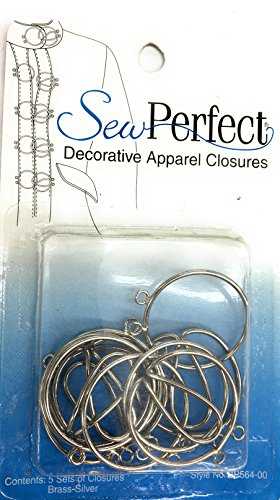 Decorative Hooks and Eyes , Sew Perfect Appareal Closures (Trim Hook And Eye Closure)