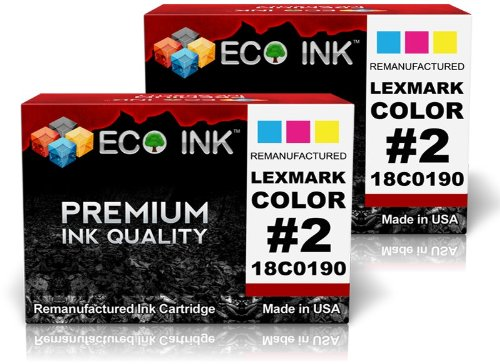 18c0190 Colour - ECO INK Compatible/Remanufactured for Lexmark 2 (2 Color) 18C0190 for Lexmark - X2480, X2580, X3480, X3580, X4580, Z1380, Z1480