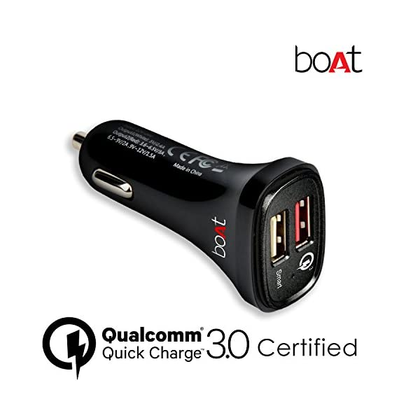 boAt-Dual-Port-Rapid-Car-Charger-Qualcomm-Certified-with-Quick-Charge-30-Free-Micro-USB-Cable-Black