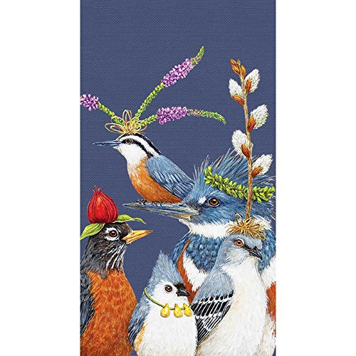 Paperproducts Design PPD 1412844 Party Friends Guest Towels/Paper Napkins, 5'' x 8'', Multicolor by Paperproducts Design