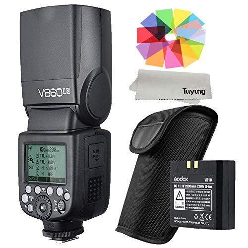 Godox V860II Flash Speedlite for Nikon DSLR with Wireless X System Flash Light with LCD Display