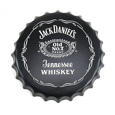Vintage Parts 323914 Jack Daniel's Tennessee Whiskey Bottle Cap Display Sign - Baked Enamel, 1 Pack