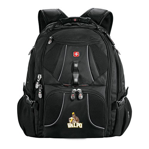 Valparaiso Wenger Swiss Army Mega Black Compu Backpack 'Official Logo' by CollegeFanGear