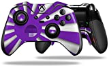 Rising Sun Japanese Flag Purple - Decal Style Skin fits Microsoft XBOX One ELITE Wireless Controller (CONTROLLER NOT INCLUDED)