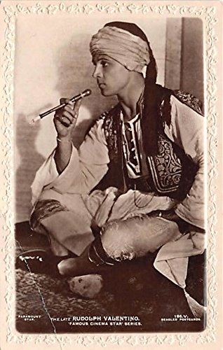 Rudolph Valentino Famous Cinema Star Theater Actor / Actress Postcard