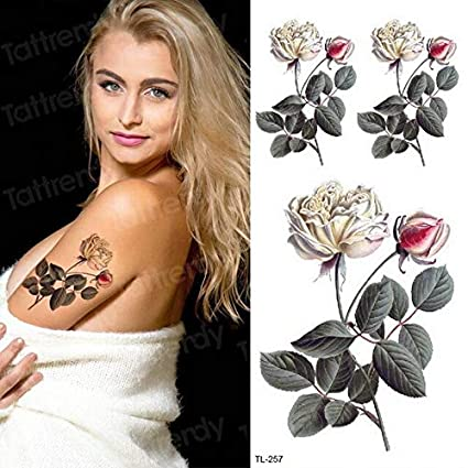 HXMAN 5 Unids Tatuaje Temporal Pegatina Flor Niñas Cuerpo Pegatina ...