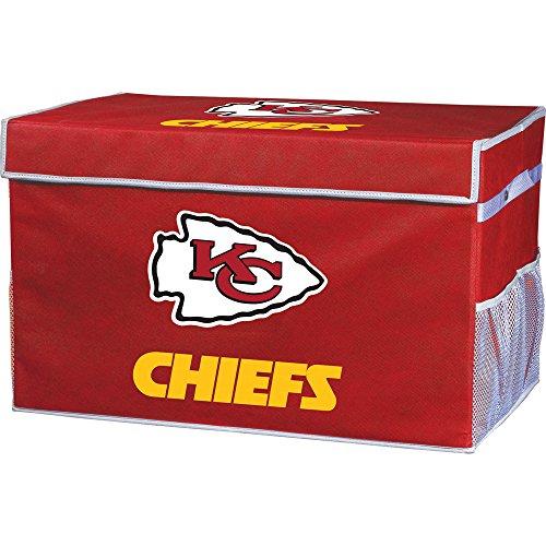 Franklin Sports Kansas City Chiefs Collapsible Foot Locker Storage Bins - Team Logo Home Organizer - 26