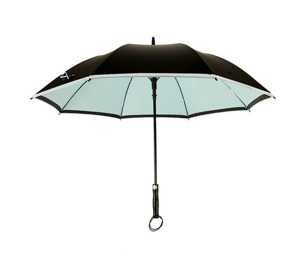 JCRNJSB® 大きな傘、ロングハンドル自動メンズ商業ルミナス風防ラージダブル3人 持ち運びに便利な折りたたみ式 防風防水 傘 (色 : スカイブルー すかいぶる゜) B07CTB9BGP スカイブルー すかいぶる゜ スカイブルー すかいぶる゜