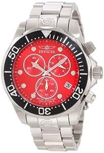 Invicta 11486 reloj cronógrafo de buceo Grand Diver con disco rojo y brazalete de acero inoxidable para hombre