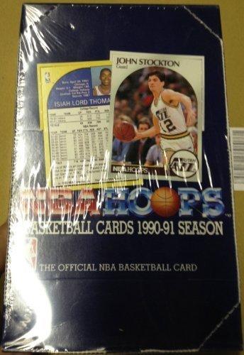 1990-91 NBA Hoops Basketball Card Box New Sealed