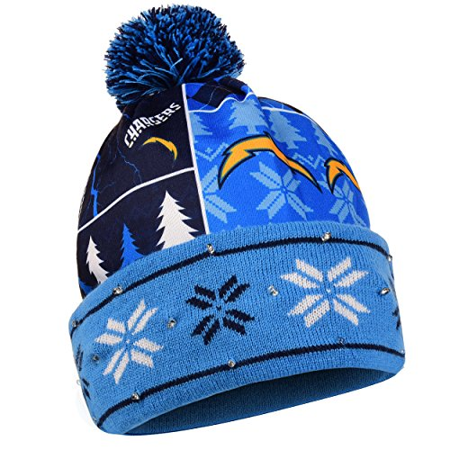 San Diego Chargers Beanie: FOCO NFL San Diego Chargers Busy Block Printed Light Up