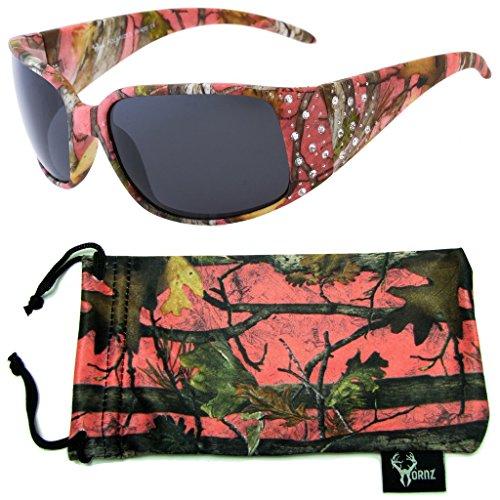 e0c7cff414479 Hornz Women's Pink & Hot Pink-Purple Camouflage Polarized Sunglasses, No  Glare