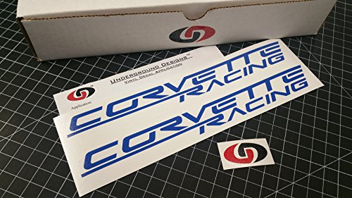 - UNDERGROUND DESIGNS Corvette Racing Decal Z06 Sticker LS1 LS2 LS3 LS7 LSX Select Color (Gloss Blue)