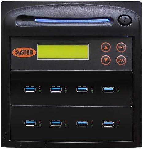 Copies USB Thumb Drives up to 18GB per Minute Systor 1:7 USB 3.1 300MB//s Flash Drive Duplicator SYS-USB30-7