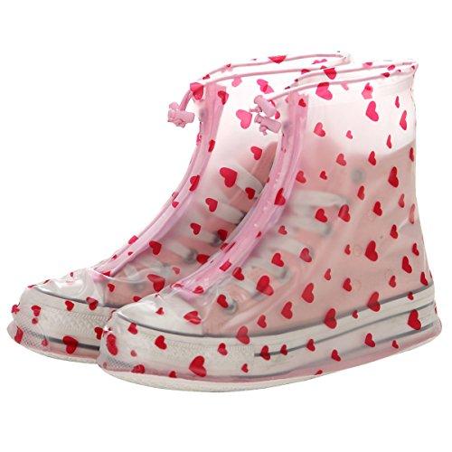Gardeningwill - Botas para mujer Polka Dot L Red Heart-shaped