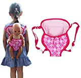 ebuddy Baby Doll Carrier Backpack Doll Accessories Front/Back Carrier with Straps- Fits 15 to 18 inch Dolls