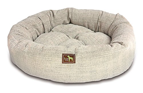 Luca For Dogs Nest Dog Bed, Medium 34''x34''x8'', Oyster by Luca for Dogs